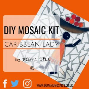 DIY Caribbean Lady Mosaic Kit